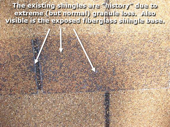 Failing and Worn Out Shingles