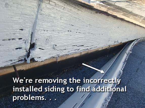 Remove vinyl siding