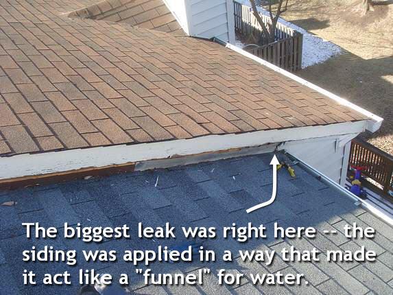 Correct siding leak
