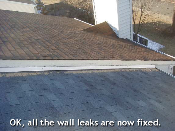 Roof and wall leaks now fixed