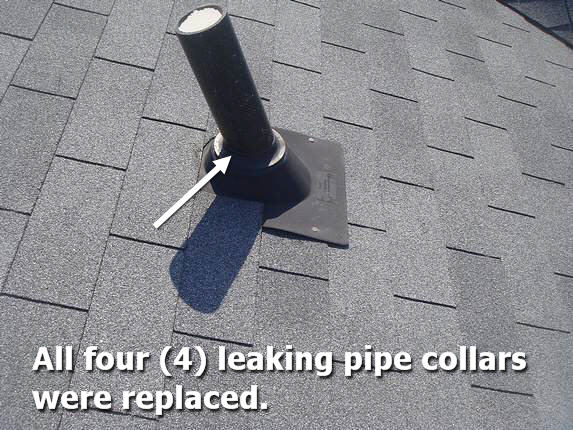 Leaky roof collar