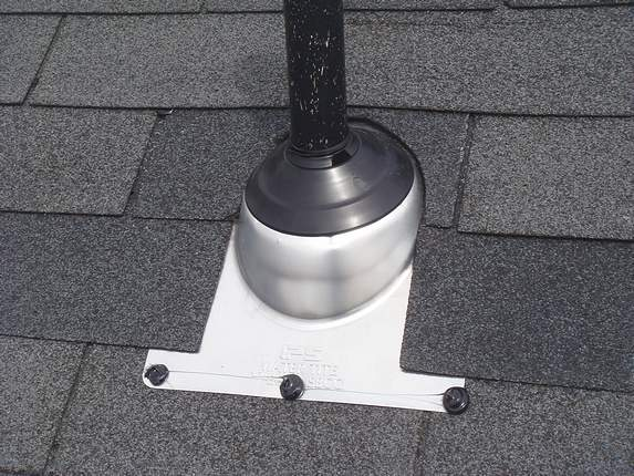 Pipe flashing sealed