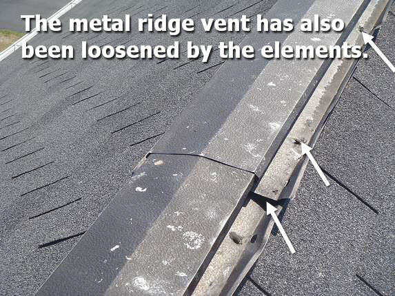Metal ridge vent leak