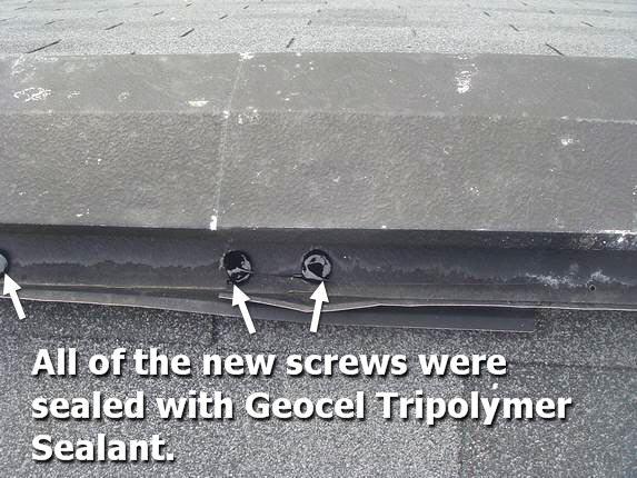 Metal ridge vent screws
