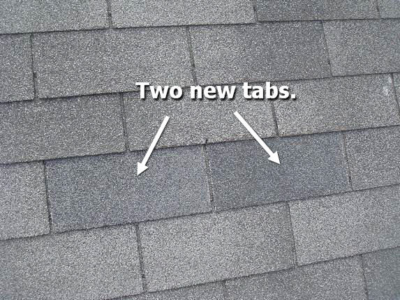 New repair shingles