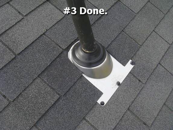 professional pipe collar installation