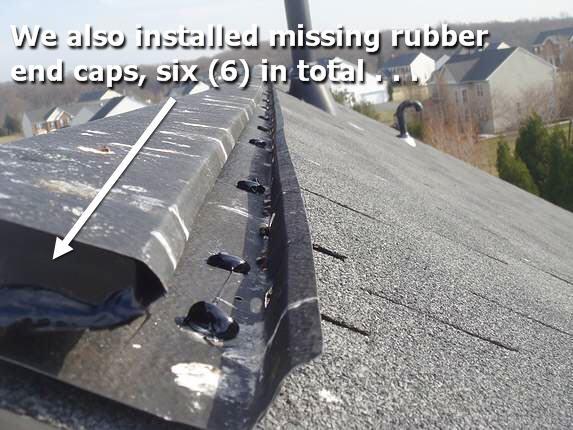 Serviced ridge vent