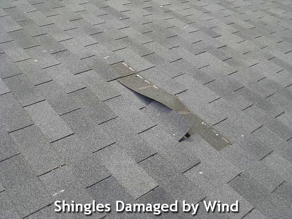 shingles damaged by wind