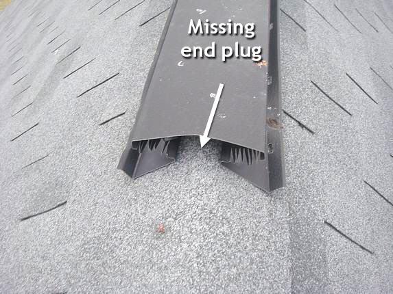 Metal Ridge Vent Leak