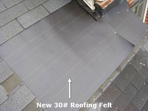 Installing new 30# roofing felt