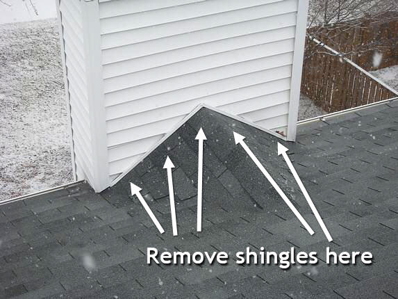 Remove Roofing Shingles Townhouse Chimney